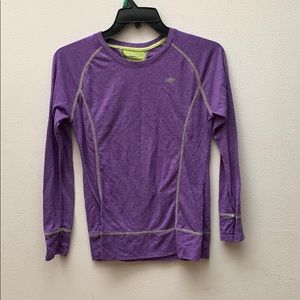 purple dry-wik exercise shirt